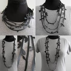 Bicycle inner tube leaf necklace - palepink's blog ck or garlands for outdoor entertaining