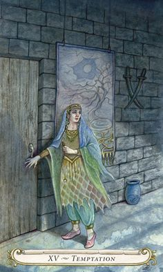 XV - Tentation (Le diable) - Le conte de fées de Tarot par Lisa Hunt