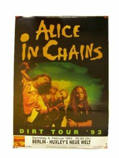 Alice In Chains Poster Concert Gig Band Shot Berlin