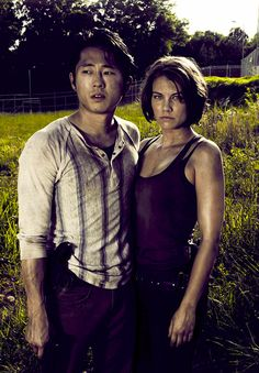 Glenn and Maggie (The Walking Dead) so cute!!!
