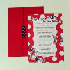 Dr. Seuss Cat in the Hat baby shower invite