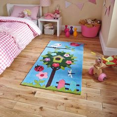 Zoomie Kids This Luisa Hand Tufted Blue Rug is great to brighten up your rooms, a good quality product at an affordable price. The first real rug and hand tufted. Bedroom Themes, Kids Bedroom, Bedroom Decor, Blue Bedroom, Bedroom Ideas, Childrens Rugs, Buy Rugs, White Rug, Home Rugs