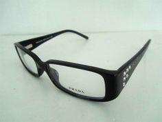 Prada VPR 06LV 1AB-1O1 Eyeglasses In Black    Prada VPR 06LV eyeglasses Frame Size: 52-16-135 mm (Eye-Bridge-Temple)  All Colors: Black or purple or Torotise.  Accessories: Original case, come with Prada case,Warranty card ,Cleaning cloth,etc