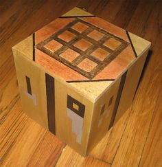 Minecraft craft table out of wood, but I'm sure I could make it out of cardboard.