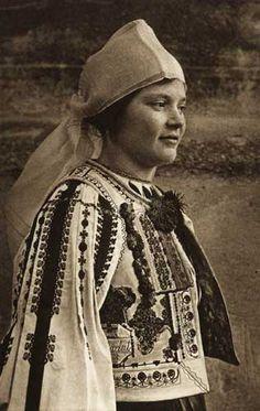 Saliste, Romania, folk costume blouse and vest