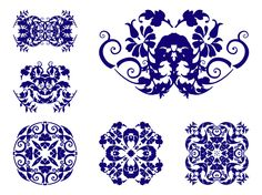 Vector graphics of antique floral ornaments. Abstract layouts, swirling lines, plant stems, waving leaves and abstract spirals. Free vectors for spring, nature, flowers, plants and floral visuals. Decorative plant scrolls for vintage posters, adverts, product labels and greeting cards. Decorative Antique Flowers by creativealys.com