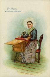 Singer Advertising Card - France