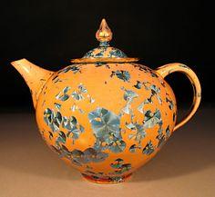 Crystalline glaze teapot by Bill Boyd - pottery teapot - handmade teapot Pottery Teapots, Pottery Art, Cute Teapot, Terracota, Tea Pot Set, Teapots And Cups, Tea Service, My Cup Of Tea, Chocolate Pots