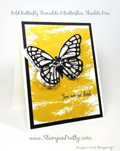 bold butterfly framelits, butterflies thinlits, watercolor wash