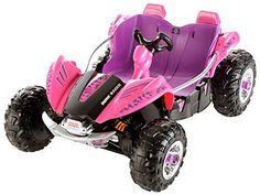 Battery Powered Car Power Wheels Dune Racer Ride Camo Quad Pink Girls 2 Person #FisherPrice