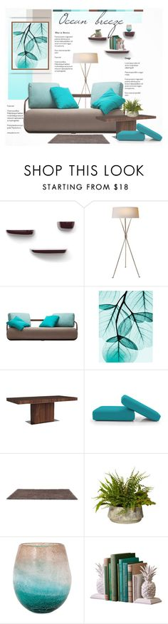 """""""Ocean breeze. Blue and brown inspiration."""" by rugile-pp ❤ liked on Polyvore featuring interior, interiors, interior design, home, home decor, interior decorating, Vitra and CALLIGARIS"""