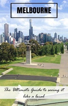 The view of Melbourne form the Shrine of Remembrance. From alleyways, parks, neighbourhoods and bars, this is the Ultimate Guide to Seeing Melbourne like a local. By @Luke | Backstreet Nomad