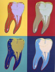 Warhol-like dental art. Dental World, Dental Life, Dental Health, Dental Facts, Dental Humor, Dental Hygienist, Dental Images, Dental Pictures, Dentist Art
