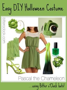 Easy DIY Halloween Costumes: Pascal the Chameleon #tangled