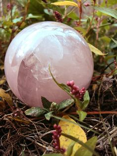 3 inch Natural Rose Quarts Crystal Sphere by MagickallyMade