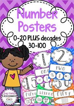 Home :: Subjects :: Mathematics :: Place Value :: Number Posters - Rainbow Chevron