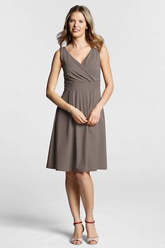 049e40b7109412 Women s Regular Sleeveless Solid Cotton Modal Fit and Flare Dress from Lands   End. I ordered it in black.