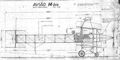 Alberto Santos Dumont, Avião 14 Bis, circa 1906.: