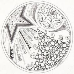 Image detail for -christmas zentangle by concepcion