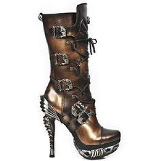New Rock Damen Stiefel gothic kupferfarben 30 Tage M.MAG006-C4 in Stiefel &…