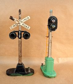 Antique Lionel Train Crossing Sign and Traffic Light. $70.00, via Etsy.