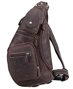 de82420474b6 Polare Cool Real Leather Cross Body Sling Bag Chest Bag Backpack Large      Continue to the product at the image link.