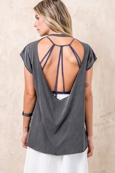 Blusa Decote Costas Top | OffPremium