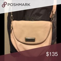 Beautiful pale pink blush Marc Jacobs Cross body lovely soft blush bag Marc by Marc Jacobs Classic Q Natasha color is Pearl Blush. 12 x 9 x 3 Marc by Marc Jacobs Bags Cosmetic Bags & Cases