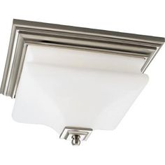 Buy the Progress Lighting Brushed Nickel Direct. Shop for the Progress Lighting Brushed Nickel Bratenahl Two-Light Flushmount Ceiling Fixture and save. Semi Flush Lighting, Flush Ceiling Lights, Ceiling Fixtures, Light Fixtures, Bedroom Lighting, Home Lighting, Modern Lighting, Home Depot, Lighting Concepts