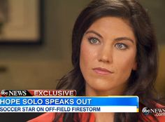 """Hope Solo Discusses Domestic Violence Assault Allegations, """"Horrible Choice"""" That Led to Soccer Suspension  Hope Solo"""