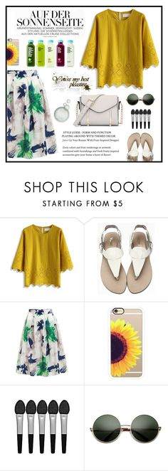 """""""Eyelet Top"""" by lesclare ❤ liked on Polyvore featuring Chicwish, Casetify and Sephora Collection"""