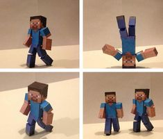 Minecraft : Bendable Steve Paper Toy Easy to asseble bendable Steve from Minecraft. Paper toy created by Snavesutit from Pixel Pape. Steve Minecraft, Minecraft Diamond Pickaxe, Paper Toys, Paper Crafts, Minecraft Characters, Zelda Twilight Princess, Anime Dolls