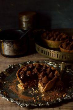 Chocolate, Salted Caramel And Hazelnut Tarts