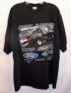Ford F-Series Off Road 4x4 Built Ford Tough Checkered Flag T-Shirt Size 2XL XXL #CheckeredFlagSports #GraphicTee
