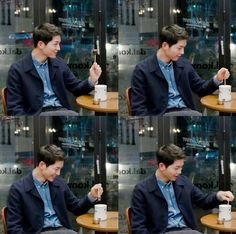 Song Joong Ki enjoying his coffee lollipop