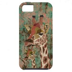 Bronze Rosa  Giraffes Damask iPhone Case