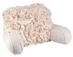 Kirklands Ruffled Bed Rest Pillow  Looks so cozy!