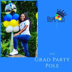 It's such an honor to help our parents celebrate. Another Grad Party Pole to go with this amazing young lady getting ready to make the best of her adult life! #balloonkingandqueen #balloonking #balloonqueen #columbiaballoons #columbiaballoondelivery  #bubbleballoon #balloonarch #balloonartist #confettiballoons #balloons🎈 #balloondecoration #birthdayballoons #ballooncolumn #balloons #babyshowerballoon #balloonlover #partyballoons #foilballoon #bigballoon #balloonsquad #balloongarland #balloonbou Bubble Balloons, Big Balloons, Confetti Balloons, Baby Shower Balloons, Birthday Balloons, Balloon Columns, Balloon Arch, Balloon Garland, Balloon Decorations