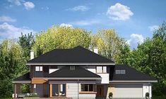 Projekt domu Dom z widokiem 269,44 m² - koszt budowy - EXTRADOM Big Houses Inside, House Inside, Home Fashion, Cabin, House Styles, Outdoor Decor, Home Decor, Home Designs Exterior, Decoration Home