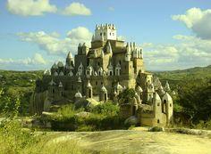 Castelo de Zé dos Montes que fica no topo da Serra da Tapuia, município de Sitio Novo, a 104 km de Natal / RN- BRASIL.