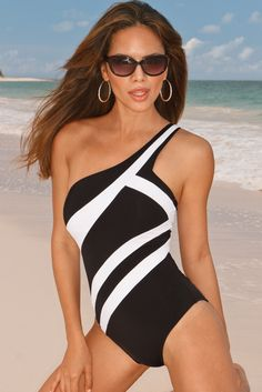 Boston Proper One-shoulder Maillot