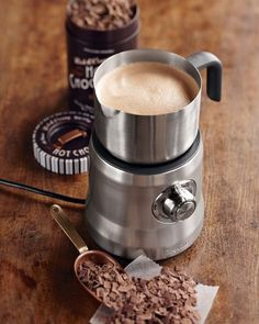 Breville milk and hot chocolate frother for fun drinks. This makes the BEST hot chocolate ever! Best Coffee, Coffee Time, All You Need Is, Milk Cafe, Milk Frothers, Soy Milk, Chocolates, Best Espresso, Espresso Coffee
