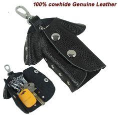 Fashion Women Genuine Leather Key Holder Leather Key wallet Men Key Case cover Key bag Black Free shipping MC-802