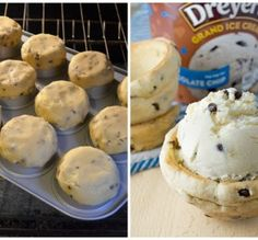 love when you can eat the bowl!!  Chocolate Chip Cookie Bowls