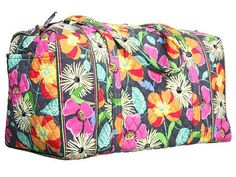 Vera Bradley Large Duffel Travel Case Jazzy Bloom *** Insider's special review you can't miss. Read more  : Travel cosmetic bag