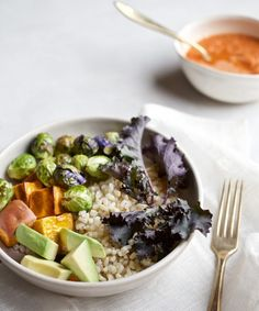 Candice Kumai | Roasted Sweet Potato Bowl with Carrot-Ginger Vinaigrette