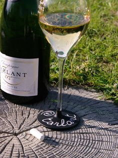 Chalk Talking Flûtes hand-made creation Tarlant Champagne