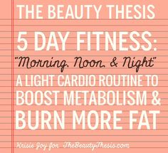 Here's another fitness post for you all! If you've been doing these exercises, have you seen any results yet? I have, and I'm excited to post a before and after once I hit week 4 of the 5 day routine! This week I'm adding a little bit of light cardio to the routine. I know ... [Read more...]