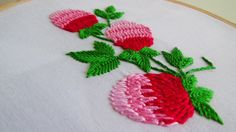 Hand Embroidery: Making flowers with twisted chain stitch - YouTube