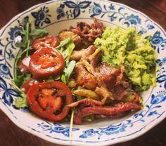 via @scapegoats_goatscaping: Scapegoats pork belly brunch bowl with our own pork belly.  #pork #porkbelly #guacamole #food #foodie #foodporn #glutenfree #localpork #buylocal  #sundaybrunch #brunch #farmlife #marthasvineyard #eatfresh #eatrealfood #porkfordays #farmtofork #farmtotable #farmfresh #buylocal #islandlife #goodfood #meat #farmfresh